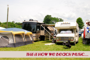 camping at Wayside Park at the Beach Music Festival